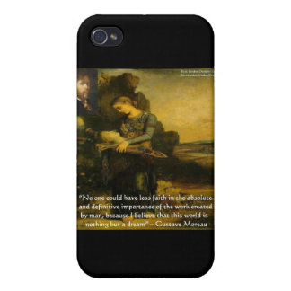 Gustave Moreau Orpheus & Quote Gifts & Tees iPhone 4/4S Case