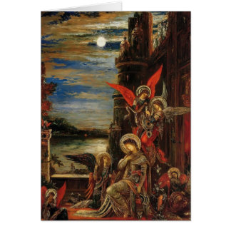 Gustave Moreau- St. Cecilia Greeting Cards