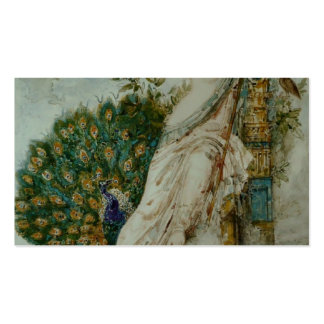 Gustave Moreau: The Peacock complaining to Juno Business Card Template