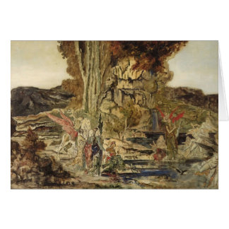 Gustave Moreau- The Pierides Card