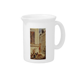 Gustave Moreau: The Wicked Rich & the Poor Lazarus Beverage Pitcher