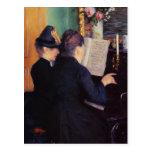 Gustavo Caillebotte- la lección de piano Postales