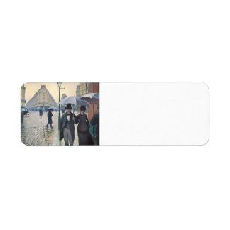 Gustavo Caillebotte- París, un día lluvioso Etiquetas De Remite