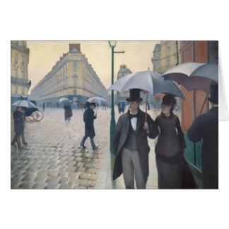 Gustavo Caillebotte- París, un día lluvioso Tarjeta De Felicitación