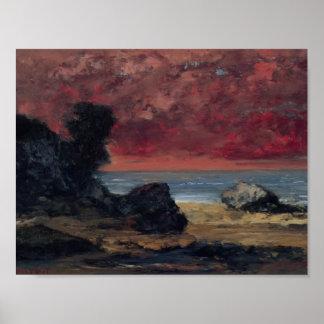 Gustavo Courbet- después de la tormenta Posters