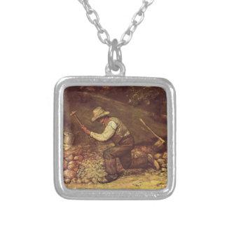 Gustavo Courbet- el triturador de piedra Colgante Personalizado