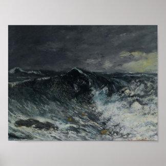 Gustavo Courbet- la onda Poster
