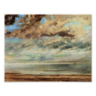 Gustavo Courbet- la playa, puesta del sol Impresiones