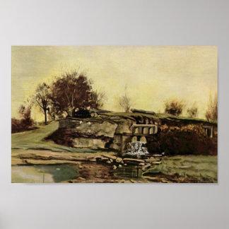Gustavo Courbet- la puerta de inundación en Optevo Impresiones