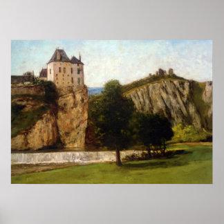 Gustavo Courbet- Le Chateau de Thoraise Poster