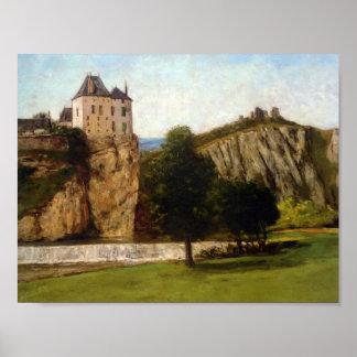 Gustavo Courbet- Le Chateau de Thoraise Impresiones