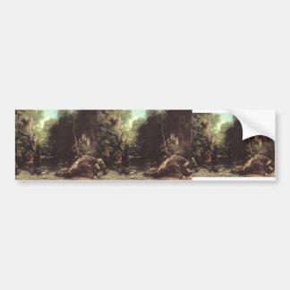 Gustavo Courbet- Rocky River Valley Etiqueta De Parachoque