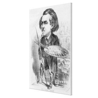 Gustavo Dore (1832-83), caricatura de 'Le Boulev Impresión En Lienzo Estirada