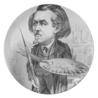 Gustavo Dore (1832-83), caricatura de 'Le Boulev Platos De Comidas