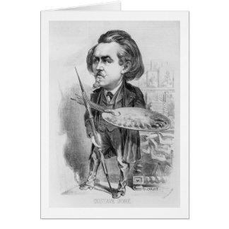 Gustavo Dore (1832-83), caricatura de 'Le Boulev Tarjeta De Felicitación