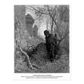 Gustavo Dore: Blondel oye la voz de Richard Tarjetas Postales
