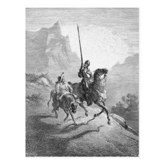 Gustavo Dore: Don Quijote y Sancho que se establec Tarjeta Postal