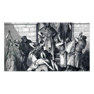 Gustavo Dore: Matanza de los hijos de Zedekiah Tarjetas De Visita