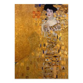 """Gustavo Klimt - Adela Bloch-Bauer I. Invitación 5"""" X 7"""""""