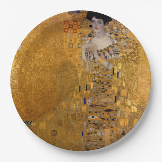 Gustavo Klimt - Adela Bloch-Bauer I. Plato De Papel 22,86 Cm
