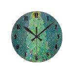Gustavo Klimt, arte floral Nouveau del vintage del Reloj De Pared