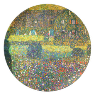 Gustavo Klimt: Casa de campo en el Attersee Platos Para Fiestas