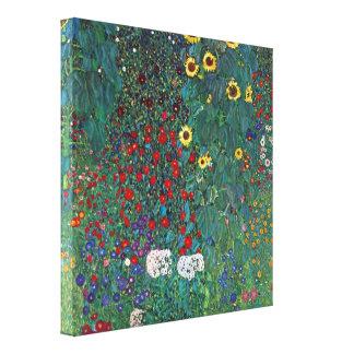 Gustavo Klimt - cultive un huerto con el crucifijo Impresión En Lona