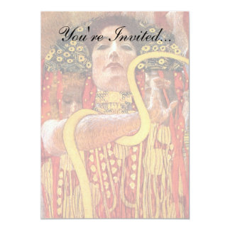 """Gustavo Klimt - diosa de la medicina de Hygieia de Invitación 5"""" X 7"""""""