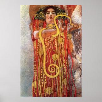 Gustavo Klimt - diosa de la medicina de Hygieia de Póster