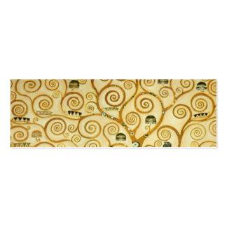 Gustavo Klimt el árbol del arte Nouveau de la vida Tarjetas De Visita Mini