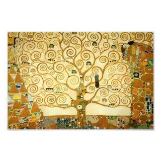 Gustavo Klimt el árbol del arte Nouveau del Cojinete