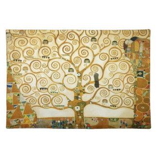 Gustavo Klimt el árbol del arte Nouveau del Mantel Individual