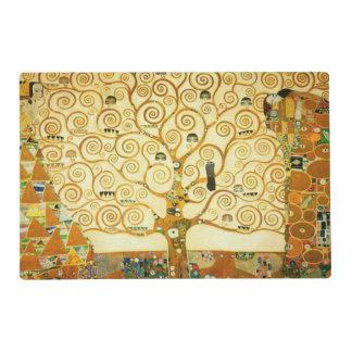 Gustavo Klimt el árbol del arte Nouveau del Tapete Individual