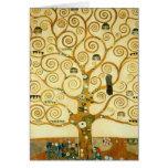 Gustavo Klimt el árbol del arte Nouveau del Tarjeta De Felicitación