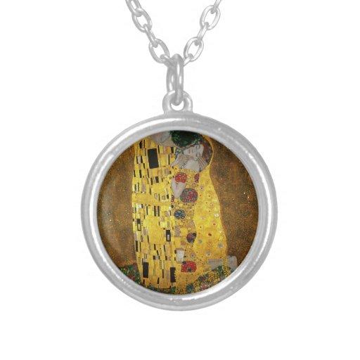 Gustavo Klimt el beso Colgante Personalizado