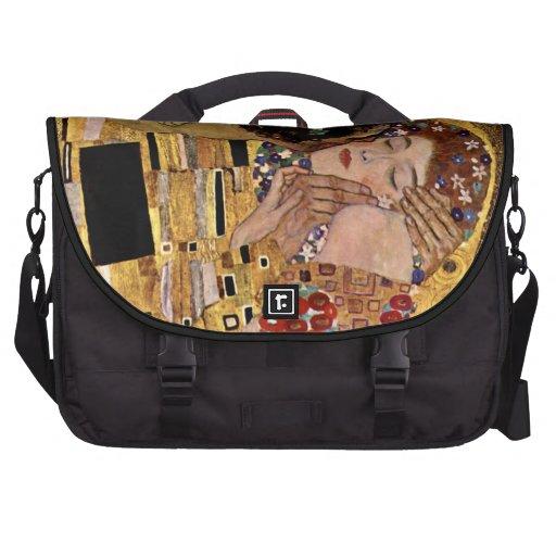 Gustavo Klimt: El beso (detalle) Bolsas De Portátil