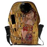 Gustavo Klimt: El beso (detalle) Bolsas Messenger