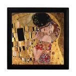 Gustavo Klimt: El beso (detalle) Caja De Joyas