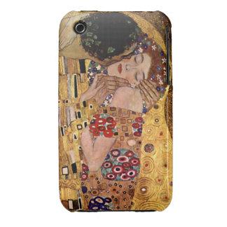 Gustavo Klimt: El beso (detalle) iPhone 3 Case-Mate Funda
