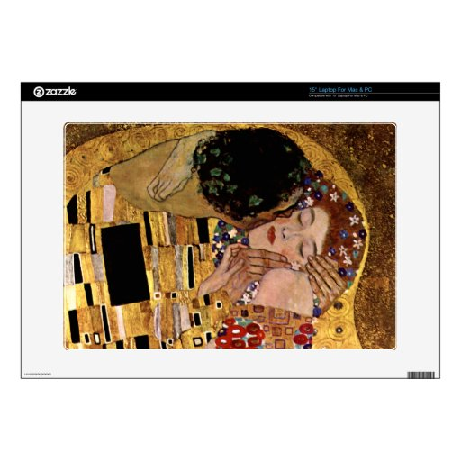 Gustavo Klimt: El beso (detalle) Portátil 38,1cm Skins