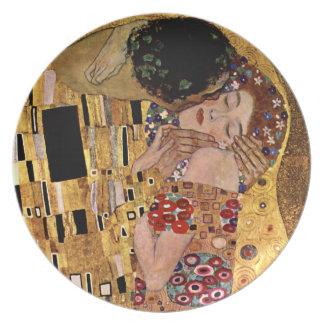 Gustavo Klimt: El beso (detalle) Plato Para Fiesta
