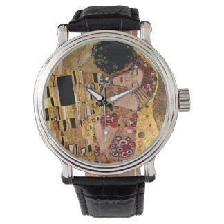 Gustavo Klimt: El beso (detalle) Reloj De Mano