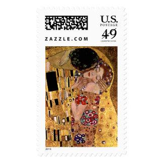 Gustavo Klimt: El beso (detalle) Franqueo