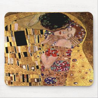 Gustavo Klimt: El beso (detalle) Tapete De Raton