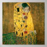 Gustavo Klimt - el beso (EL Beso, Le Baiser) Póster