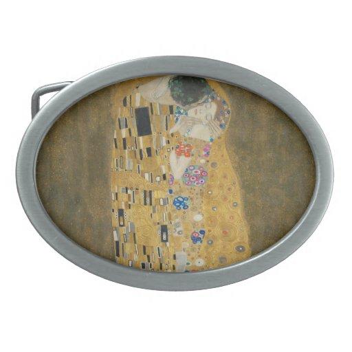 Gustavo Klimt - el beso Hebilla Cinturón Oval
