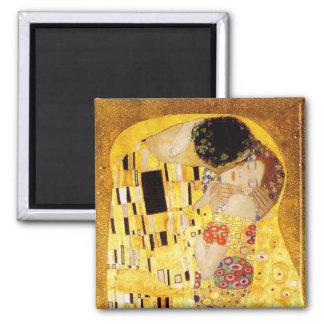 Gustavo Klimt el beso Imán Cuadrado
