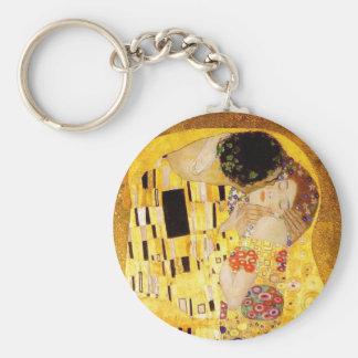 Gustavo Klimt el beso Llavero Redondo Tipo Pin