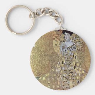 Gustavo Klimt - el beso Llavero Redondo Tipo Pin