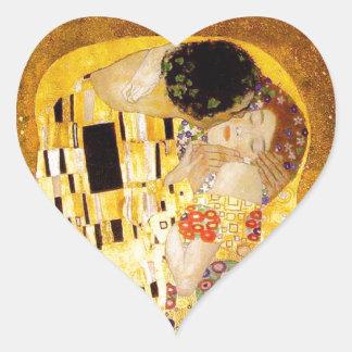 Gustavo Klimt el beso Pegatina En Forma De Corazón